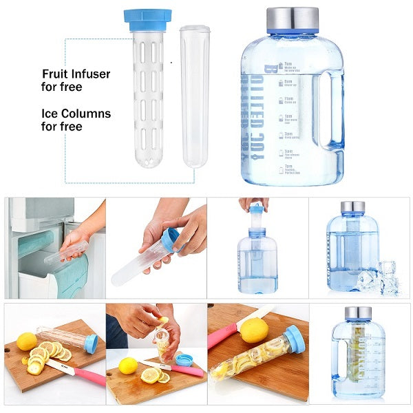 Free movement sealed and leak-proof water bottle