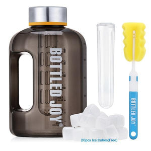 Load image into Gallery viewer, New BPA Free 2.2L Large Capacity Plastic Gym Sports Water Jug Bottle with Ice Cooler Sticks