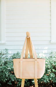 Large Leather Laptop Tote Handbag | Cope & Co