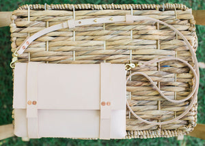 Crossbody Leather Clutch | Natural Vegtan