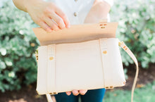 Load image into Gallery viewer, Crossbody Leather Clutch | Natural Vegtan