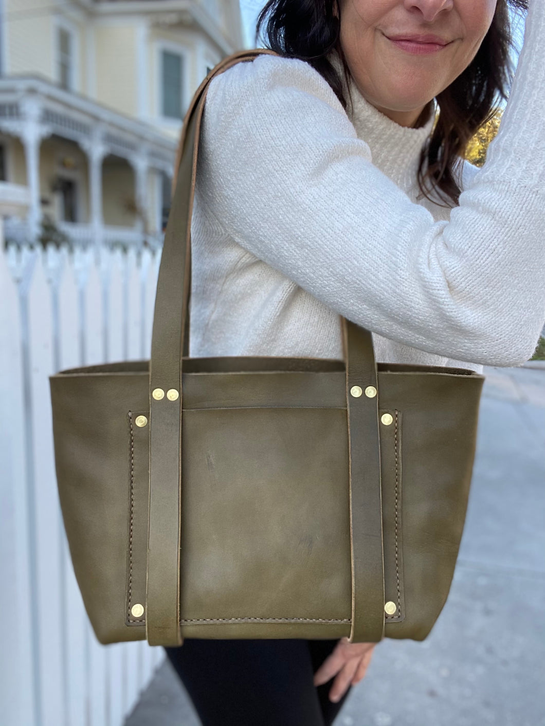 Olive Medium Tote Fall Collection