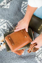 Load image into Gallery viewer, Cognac Leather Versatile Mini Clutch Fall Collection