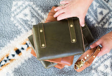 Load image into Gallery viewer, Olive Leather Versatile Mini Clutch Fall Collection