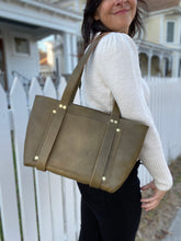 Load image into Gallery viewer, Olive Medium Tote Fall Collection