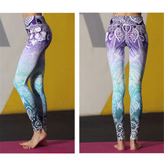 Beautiful Floral Yoga Pants High Waist