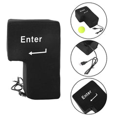 USB Enter Stress Button Punch Bag