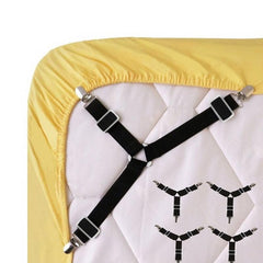 Adjustable Bed Sheet Straps (4 Pieces)