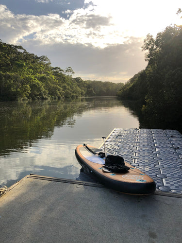 Padlbay SUP Somewhere I Belong on lane cove river