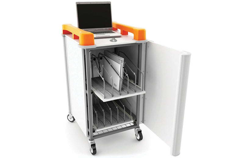LapCabby 10V Laptop Trolley Charge and Store 10 Bay Vertical