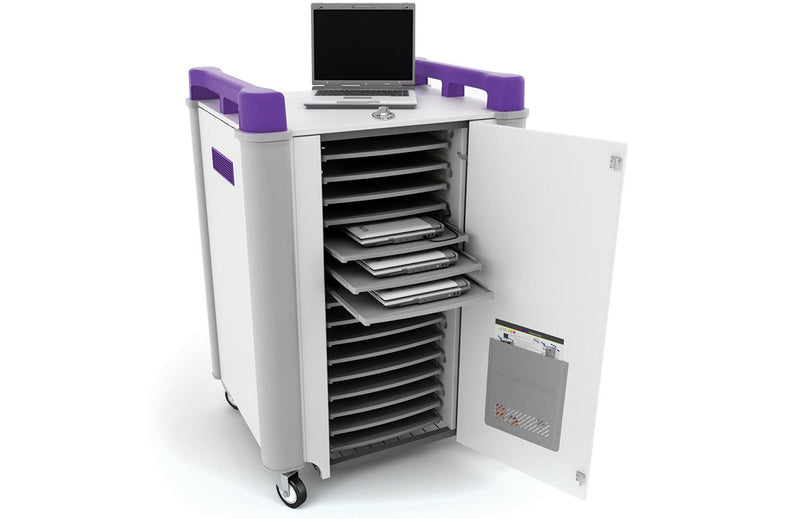 LapCabby 16H Laptop Trolley Charge and Store 16 Bay Horizontal