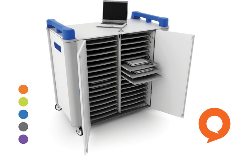 LapCabby 32H Laptop Trolley Charge and Store 32 Bay Horizontal