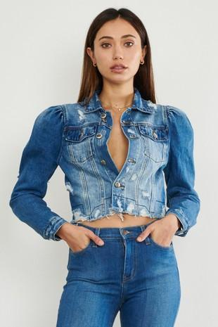 Chel's Ripped Crop Jacket