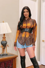 Load image into Gallery viewer, Chel's Leopard Oversize Button Down Shirt