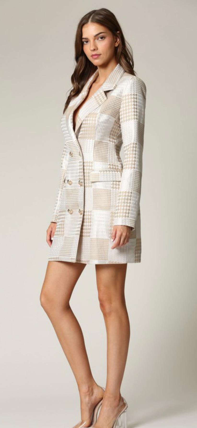 Chel's Jacquard Blazer Dress