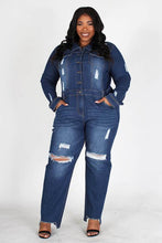 Load image into Gallery viewer, Chel's Denim Jumpsuit Plus