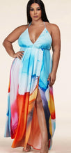 Load image into Gallery viewer, Chel's Print Wrap Plus Maxi Dress