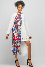 Load image into Gallery viewer, ASYMMETRIC PATTERN POCKET DRESS & RING DETAIL