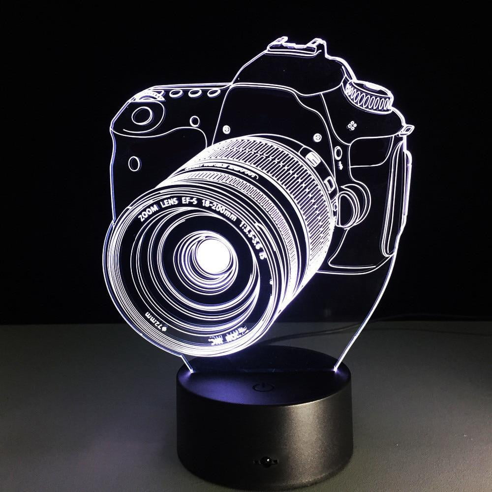 7 Color change 3D DSLR Hologram Lamp