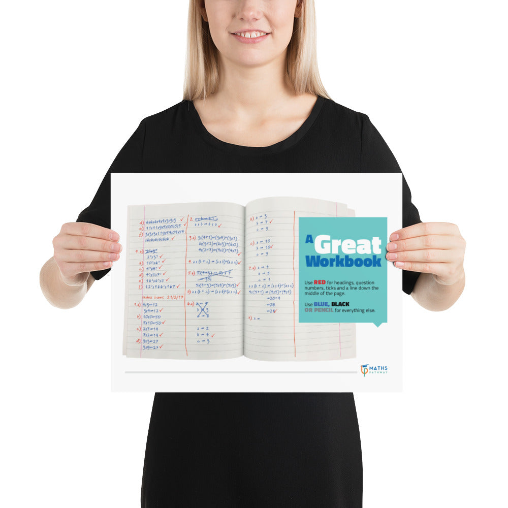 A Great Workbook (Printed Poster)