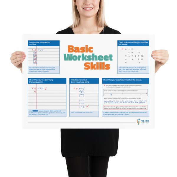 Basic Worksheet Skills (Printed Poster)