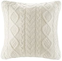 Lumbar Decorative Throw Pillow Cover Sweater Knit Rectangular Cushion Case for Couch, Chair, Bed and Home Accent Decor, 12 x 20 Inch / 30 x 50 cm Cream