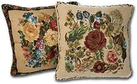 Tache 2 Piece 18 X 18 Inch Country Rustic Morning Meadow Cushion Throw Pillow Cover Set - 3098