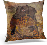 Accrocn Throw Pillow Covers Vintage Real Vivid Hound Hunting Rustic Style Oil Painting Cushion Decorative Pillowcases Polyester 18 x 18 Inch Square Pillowcase Hidden Zipper