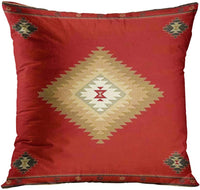 ArtSocket Set of 4 Throw Pillow Covers South Southwest Western Tribal Red Native Indian Home Cultural Geometric Hue Country Decorative Pillow Cases Home Decor Square 18x18 Inches Pillowcases