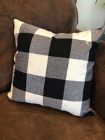Volcanics Buffalo Check Plaid Throw Pillow Covers Set of 4 Farmhouse Decorative Square Pillow Cover Case Cushion Pillowcase 18x18 Inches for Home Decor Sofa Bedroom Car