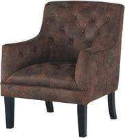 Signature Design by Ashley - Drakelle Accent Chair - Casual - Faux Leather - Brown