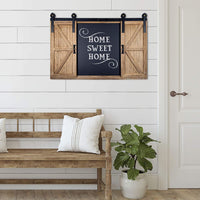 Rustic Wood Chalkboard with Four 4x6 Hideaway Photos: Large Wall Mounted Magnetic Chalk Board, Perfect for Kitchen Dcor, Restaurant Menu, Bulletin Sign