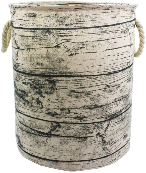 Mziart Unique Tree Stump Large Laundry Basket Bag with Rope Handles, Collapsible Wood Grain Waterproof Laundry Hamper Stylish Storage Basket Bin Organizer for Toys Clothes Kids Bedroom Nursery