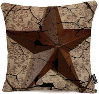 oFloral Grunge Rustic Texas Star Western Country Art 18X18 Inch Pillow Case Home Decorative Cotton Linen Throw Pillow Cushion Cover