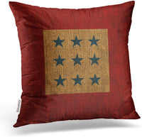 Accrocn Square Throw Pillow Covers Vintage Stars Rustic Blue And Red Pillowcases Polyester 18 X 18 Inch With Hidden Zipper Home Sofa Cushion Decorative Pillowcase