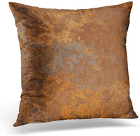 Emvency Throw Pillow Covers Case Brown Copper Old Rusty Metal High Resolution Orange Rustic Decorative Pillowcase Cushion Cover Sofa Bedroom Car 20 x 20 Inches
