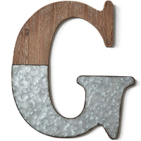 The Lakeside Collection Wood & Metal Wall Letters - Decorative Galvanized Rustic Wall Art - R