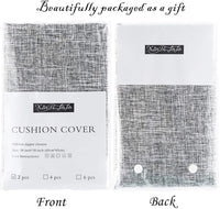 Xinrjojo Solid Color Square Pillow Cases, Rustic Pillow Covers 18x18 Inches, Soft Cotton Linen Decorative Throw Pillow Covers, Cushion Covers for Sofa Couch Bed&Car, 2 Packs- Silver Gray
