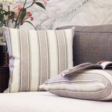 JOJUSIS Stripe Throw Pillow Covers Farmhouse Pillowcases Pack of 2 18 x 18 Inch Grey