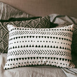 "Stylish Mudcloth Throw Pillow Cover. Modern Boho Decor for Your Farmhouse Couch Lounge Chair Sofa or Bed. Outdoor Rectangular lumbar Decorative Cushion Aztec Design. 14"" X 20"" Insert Not Included"
