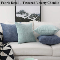 Home Brilliant Decorative Pillow Covers for Couch Throw Pillow Covers Sofa Bench, 2 Packs, 18x18 inches, Teal