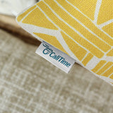 CaliTime Canvas Bolster Pillow Cover Case for Couch Sofa Home Decoration Vintage Southwestern Geometric 12 X 20 Inches Bold Yellow