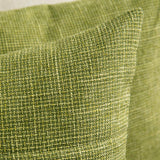 MIULEE Set of 2 Decorative Linen Throw Pillow Covers Cushion Case Button Vintage Farmhouse Pillowcase for Couch Sofa Bed 18 x 18 Inch 45 x 45 cm Green
