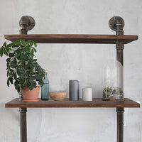 "Barnyard Designs 3-Tier Floating Wall Mount Bookshelf - Solid Pine Wood Shelves - Rustic Vintage Industrial Style Decorative Bookshelves 38"" x 23.5"""