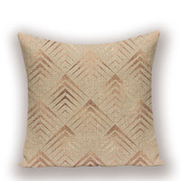 Rustic Style Cover Cushion  Shabby Chic Gold  Kissen Simple Cover Pillows  Decorative Pillow Case Geometric Decor Cushions Cases