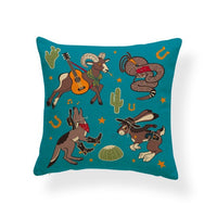 Flamingo Rabbit Owl Giraffe Cushion Eagle Panda Deer Cactus Pillow Cover Rustic Dorm Nap Mat Throw Pillow Case 45Cm Polyester