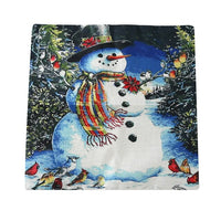 45*45cm Cushion Covers Santa Snowman Rustic Pillow Case Cover Christmas Decoration For Home Simple Home Throw Pillows Covers