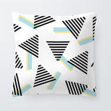 Geometry Black And White Cushion Case Stripe Diamond Pillows Red Rustic Cute Office Decorativa Throw Pillow Cover 45X45Cm Velvet
