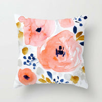 Flower Rustic Throw Pillow Case Polytster Car SofaBed Cushion Cover HomeDecor