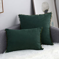 Pompon Hair Ball Lace Cushion Cover Pompomes Trim Pillow Case Set Sofa Pom Pom Cushion Cover Decorative Pillow Case Paris